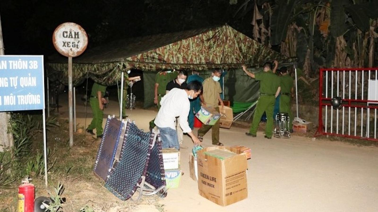 Kết thúc thời gian phong toả cụm dân cư ở thôn 3B, xã Việt Cường, huyện Trấn Yên