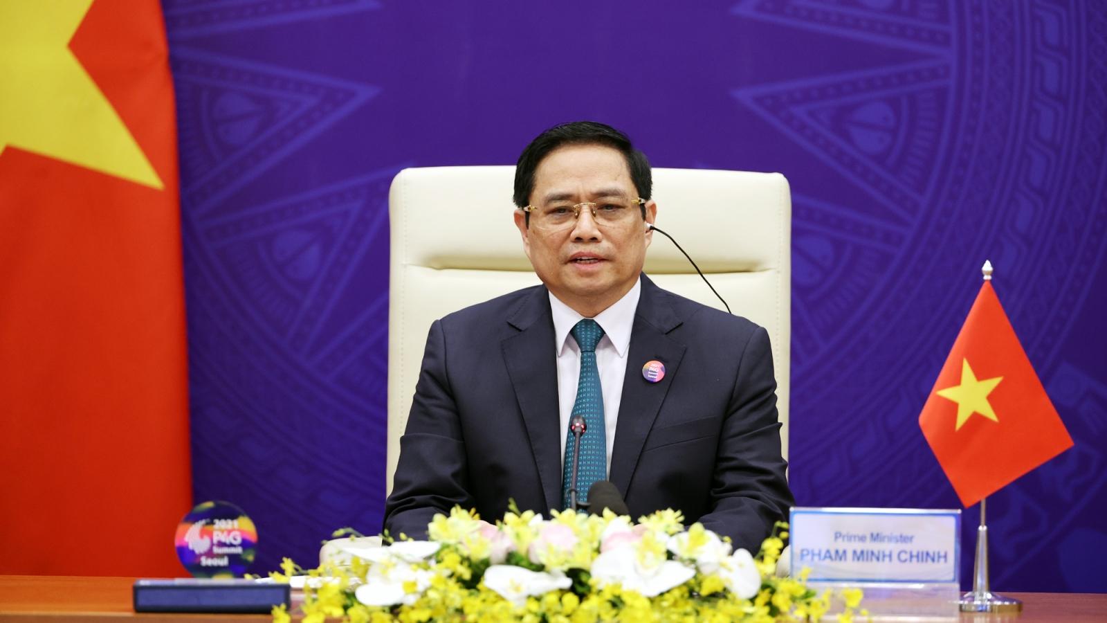 Thủ tướng Phạm Minh Chính kêu gọi quốc tế chung tay ngăn chặn và đẩy lùi đại dịch Covid-19