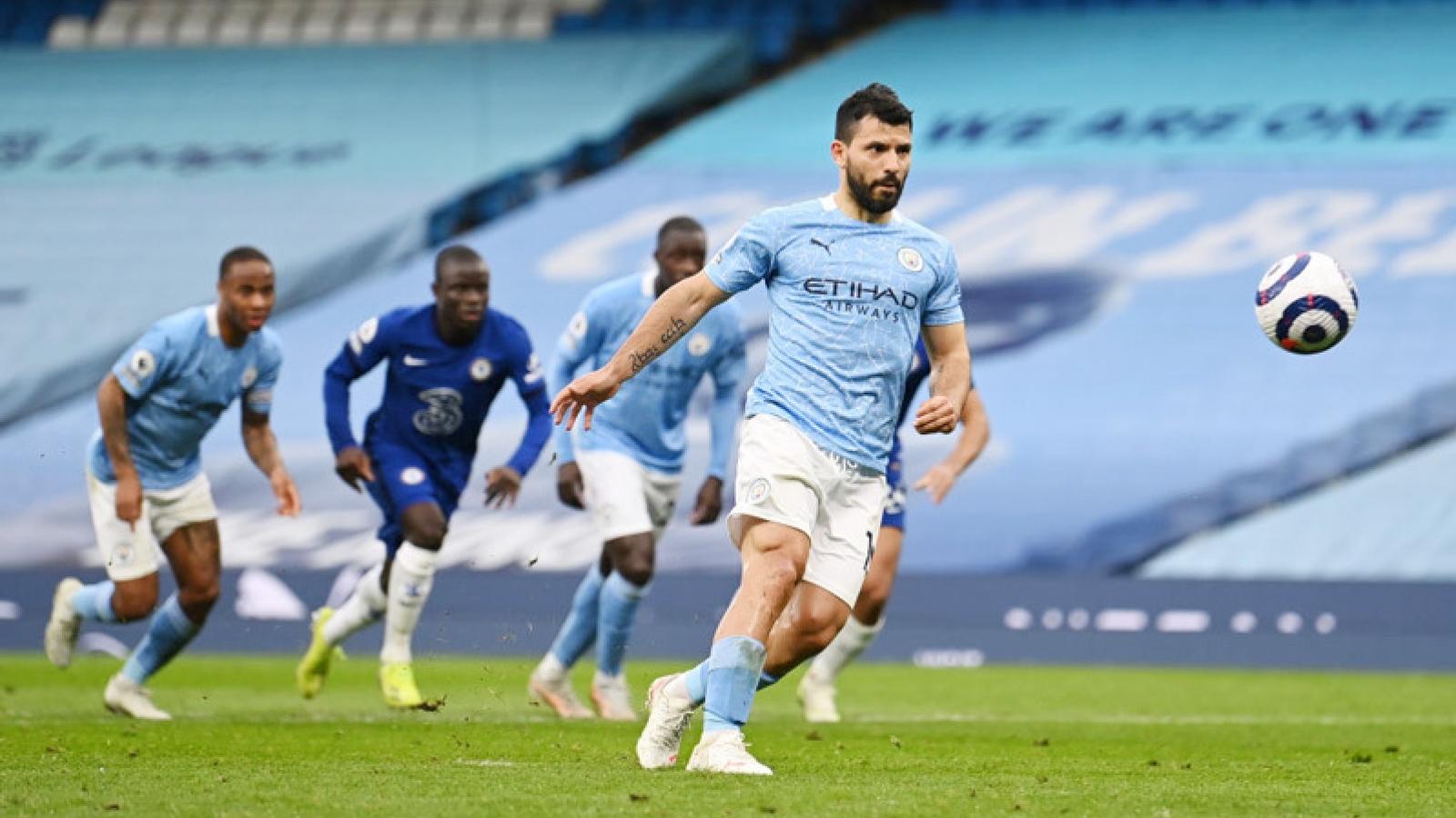 Aguero xin lỗi vì đá hỏng phạt đền khiến Man City chưa thể vô địch Ngoại hạng Anh