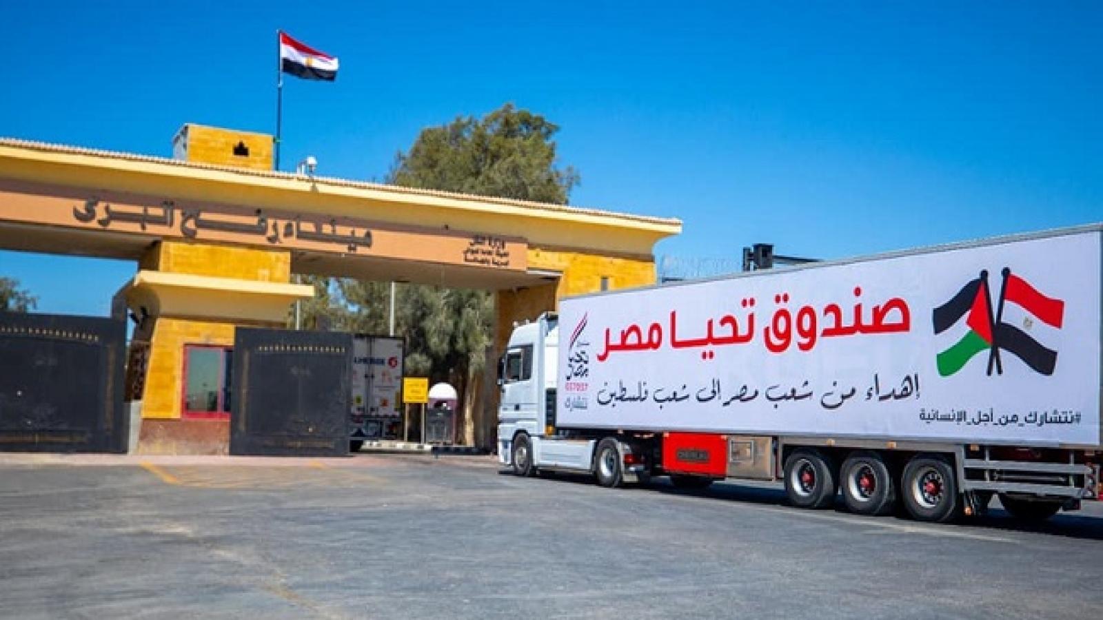 Ai Cập gửi hơn 3.000 tấn viện trợ nhân đạo tới Dải Gaza