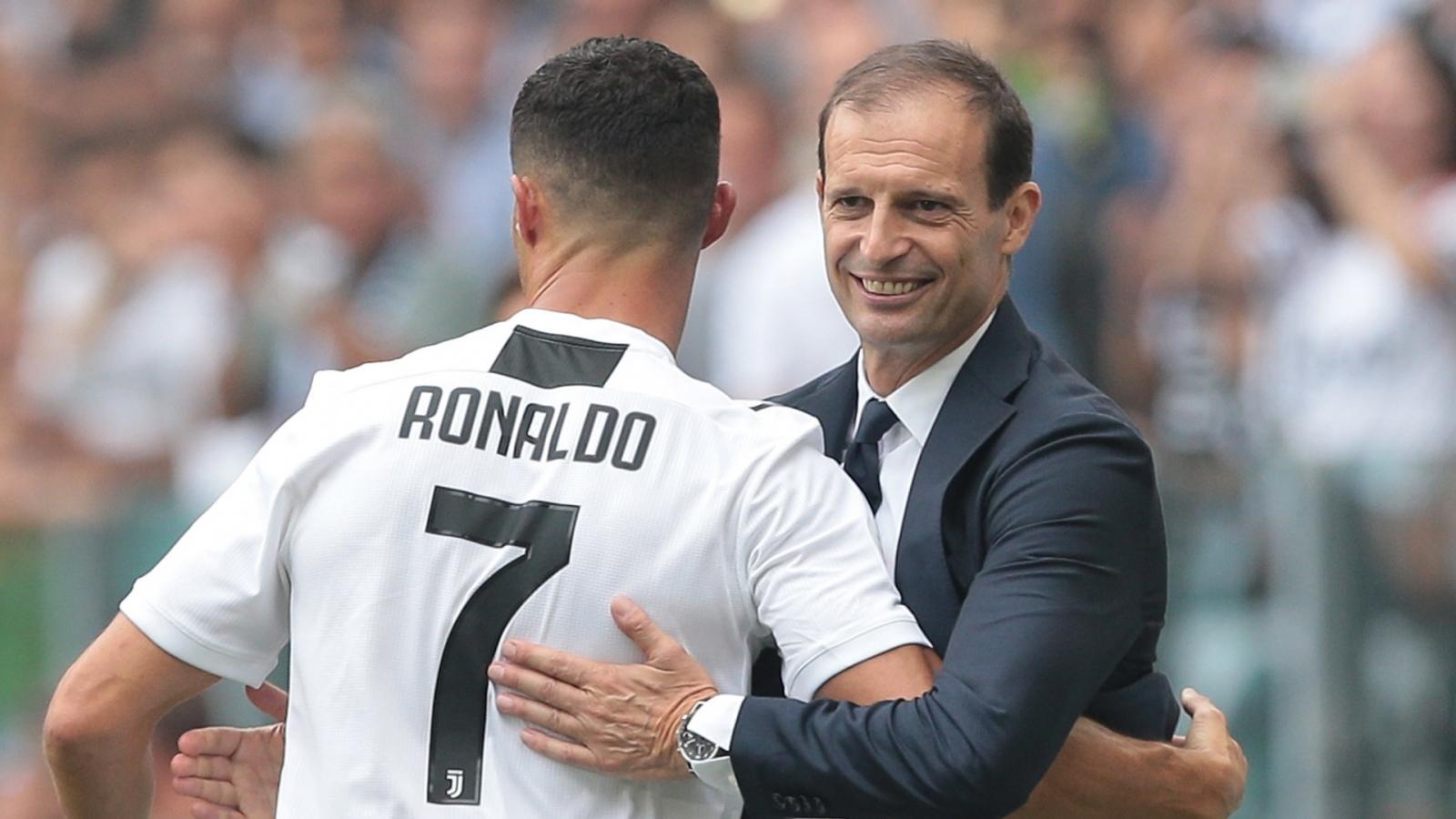 """RỘ TIN ĐỒN Ronaldo sắp """"tái ngộ"""" thầy cũ Allegri ở Juventus?"""