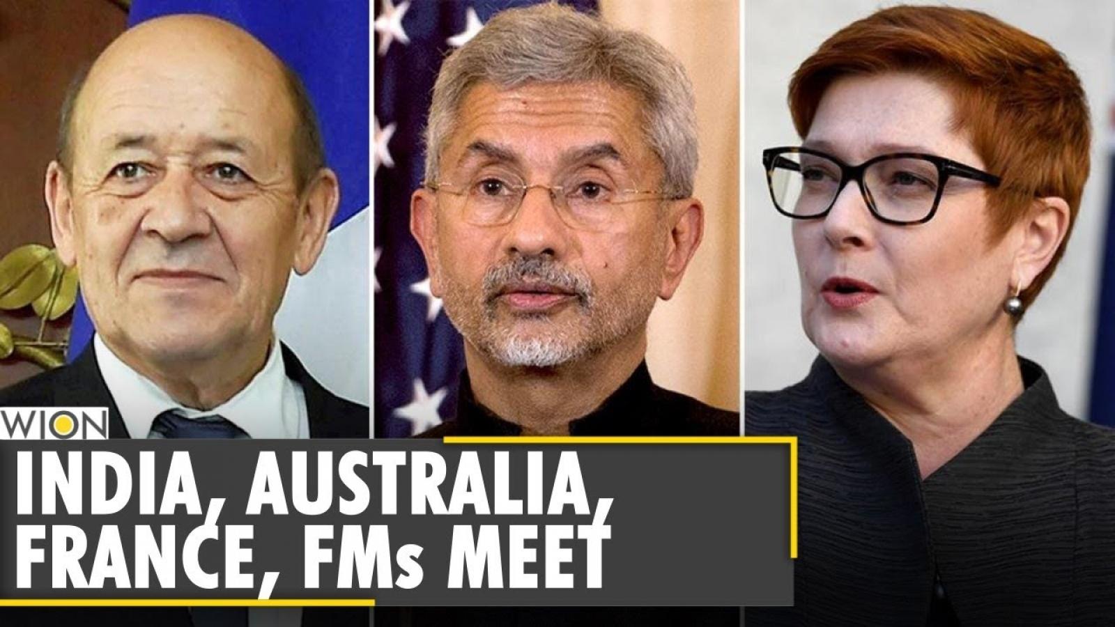 Australia, Ấn Độ và Pháp nhất trí tăng cường hợp tác ở Ấn Độ Dương-Thái Bình Dương