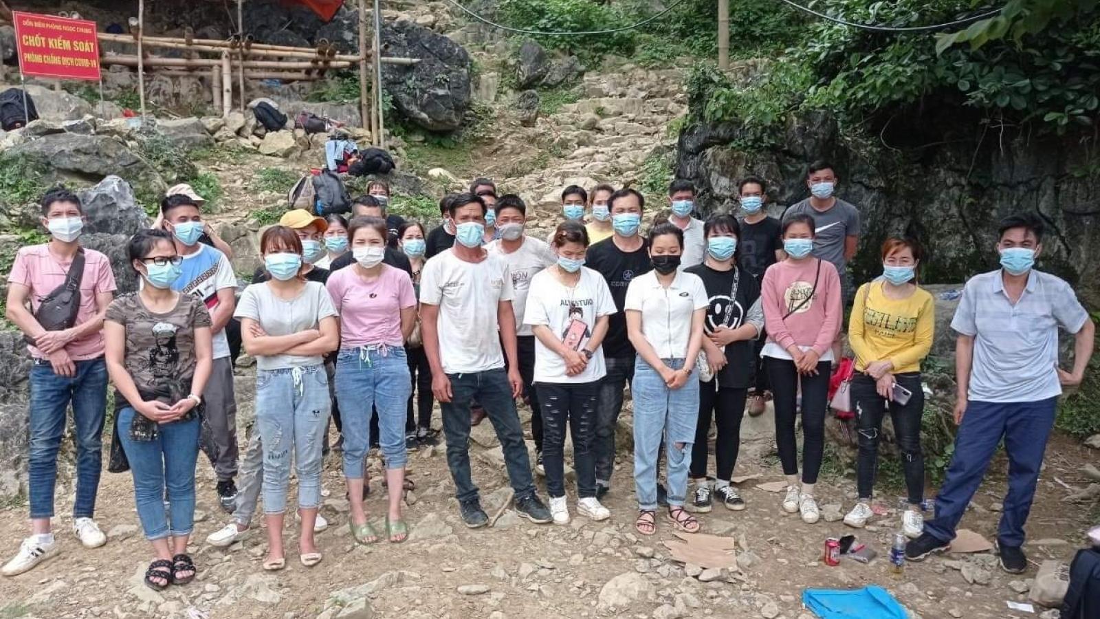 Bộ đội Biên phòng tạm giữ 31 người nhập cảnh trái phép
