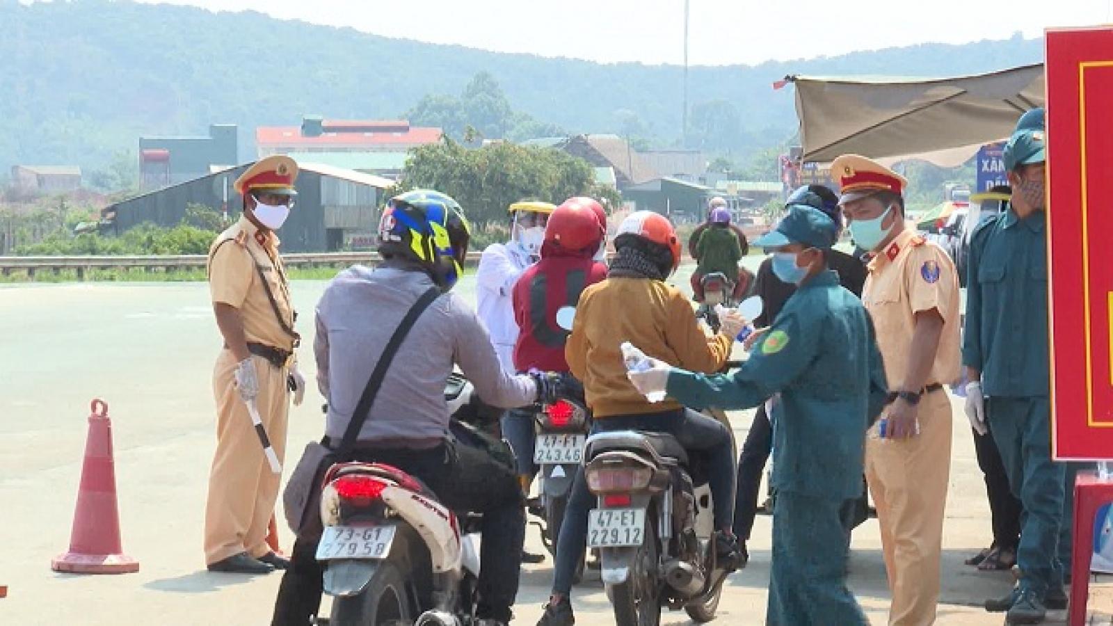 Đắk Nông lập chốt kiểm tra khai báo y tế, giám sát phòng chống dịch Covid-19 giáp tỉnh Đắk