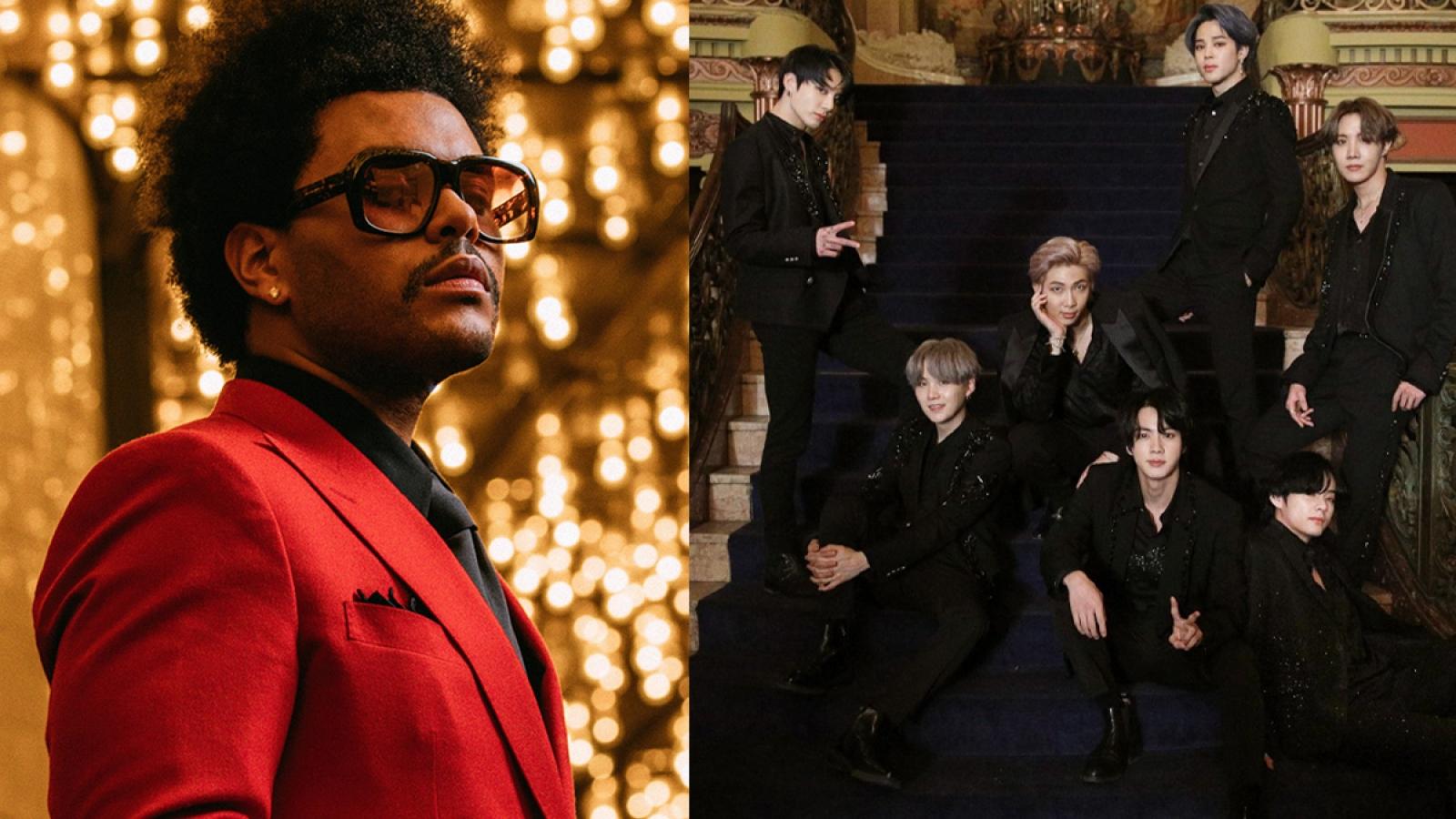"The Weeknd, BTS ""ẵm trọn"" loạt giải thưởng lớn tại Billboard Music Awards"