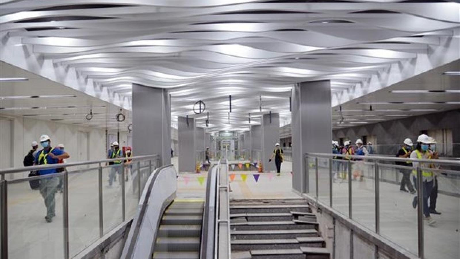Ba Son underground station's ground floor completed ahead of schedule