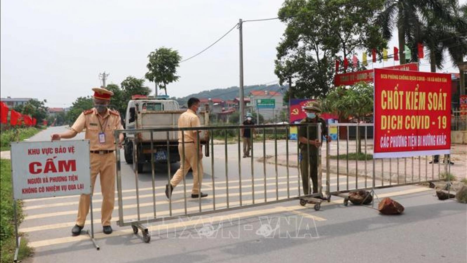 Bắc Ninh thực hiện giãn cách xã hội tại 4 huyện, thị xã từ 0h ngày 7/5