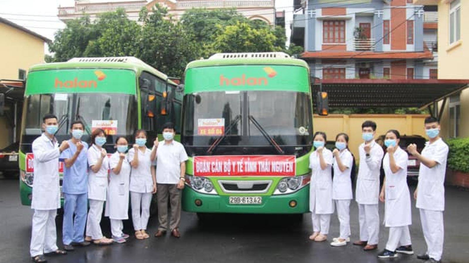 Thái Nguyên chi viện 51 nhân viên y tế giúp Bắc Giang phòng, chống COVID-19