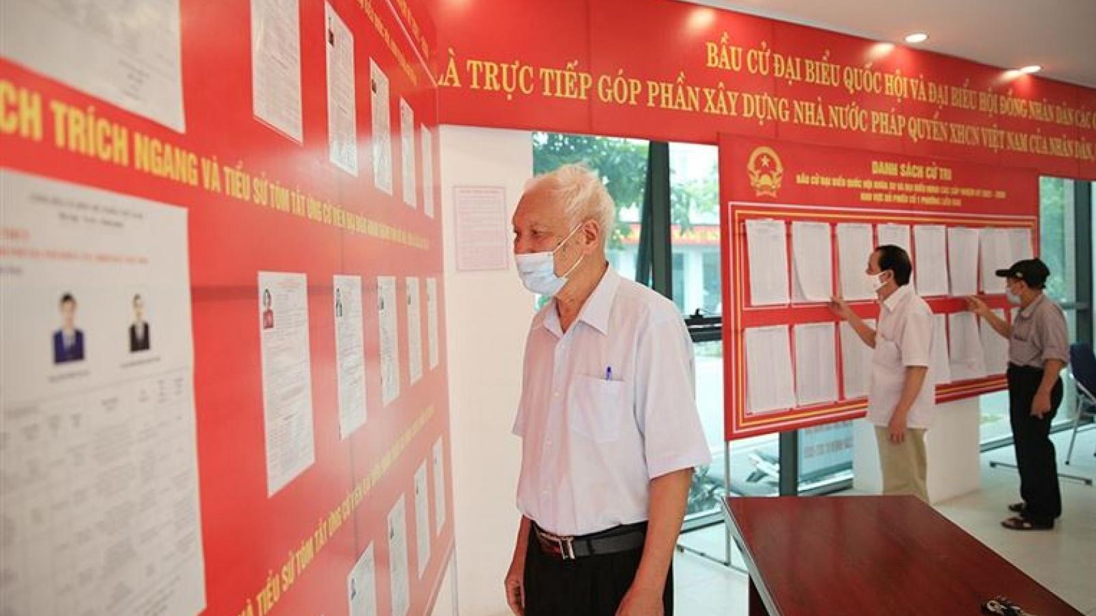Hà Nội có phương án bầu cử an toàn tại 67 điểm dân cư bị phong tỏa và điểm cách ly