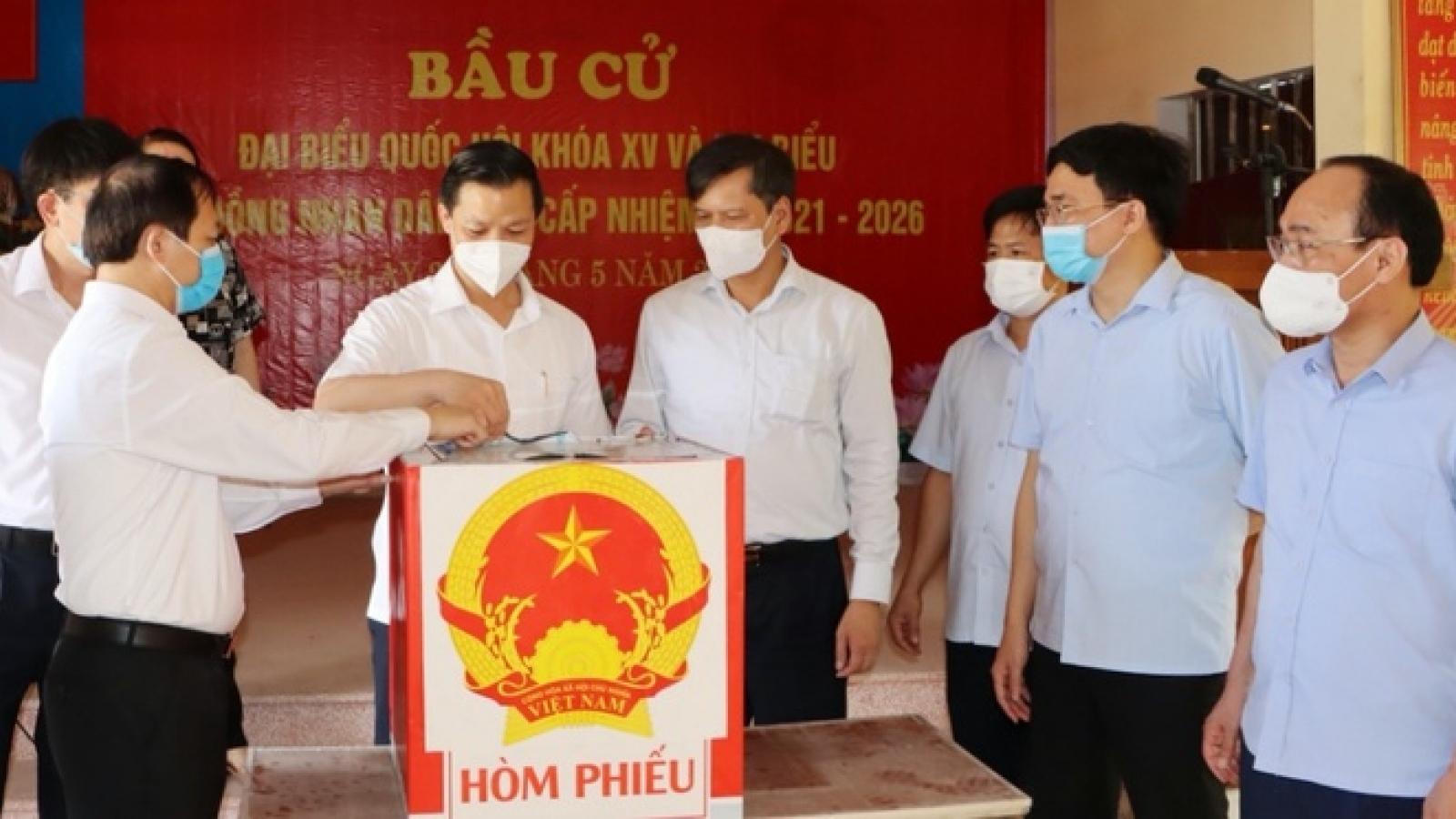Bắc Ninh tổ chức cho hơn 3.300 cử tri bỏ phiếu sớm