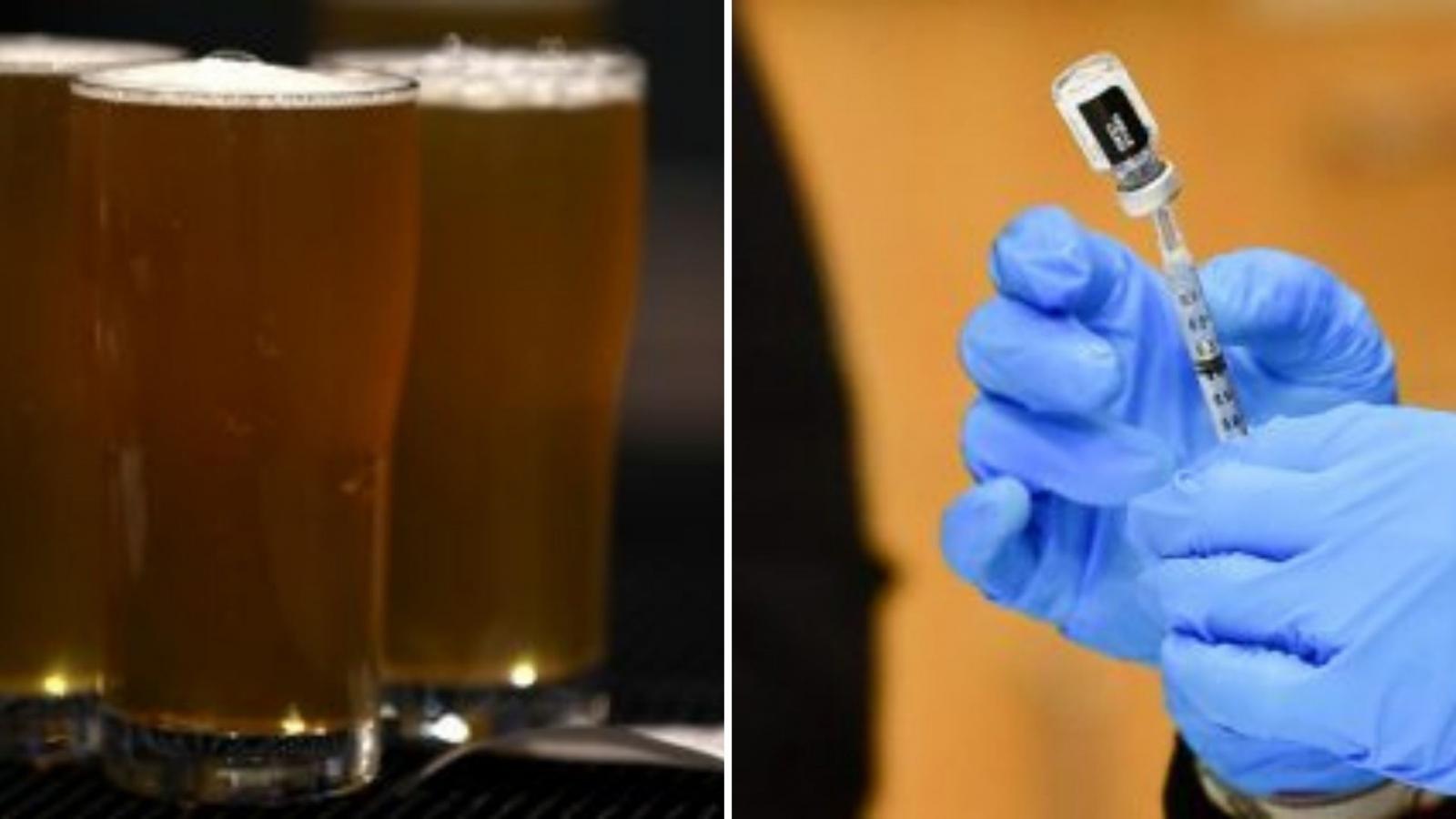 Tiêm vaccine được uống bia miễn phí ở Mỹ