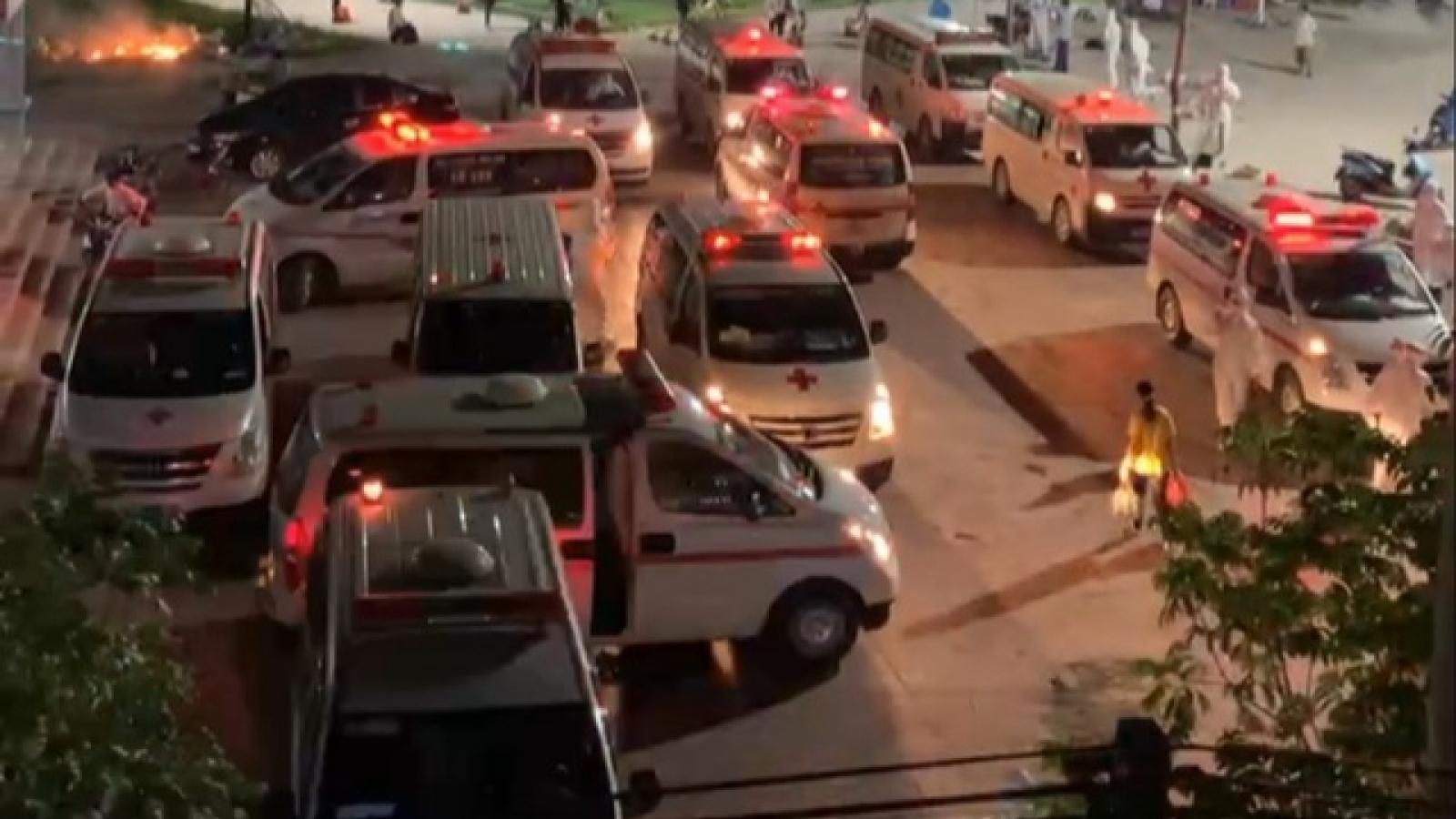 Có thêm nhiều ca dương tính, Bắc Giang đưa cả nghìn người đi cách ly trong đêm