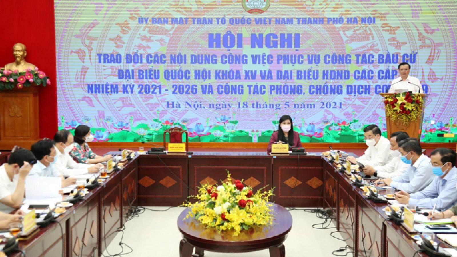 Bí thư Hà Nội: Trong mọi tình huống đều sẵn sàng tổ chức thành công bầu cử