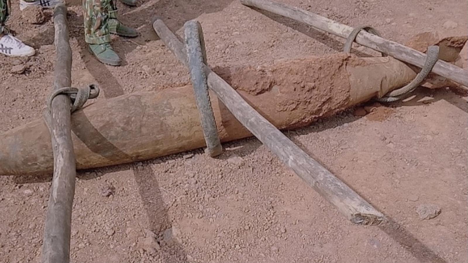 Phát hiện quả bom dài 1,6m còn thuốc nổ tạiBà Rịa - Vũng Tàu