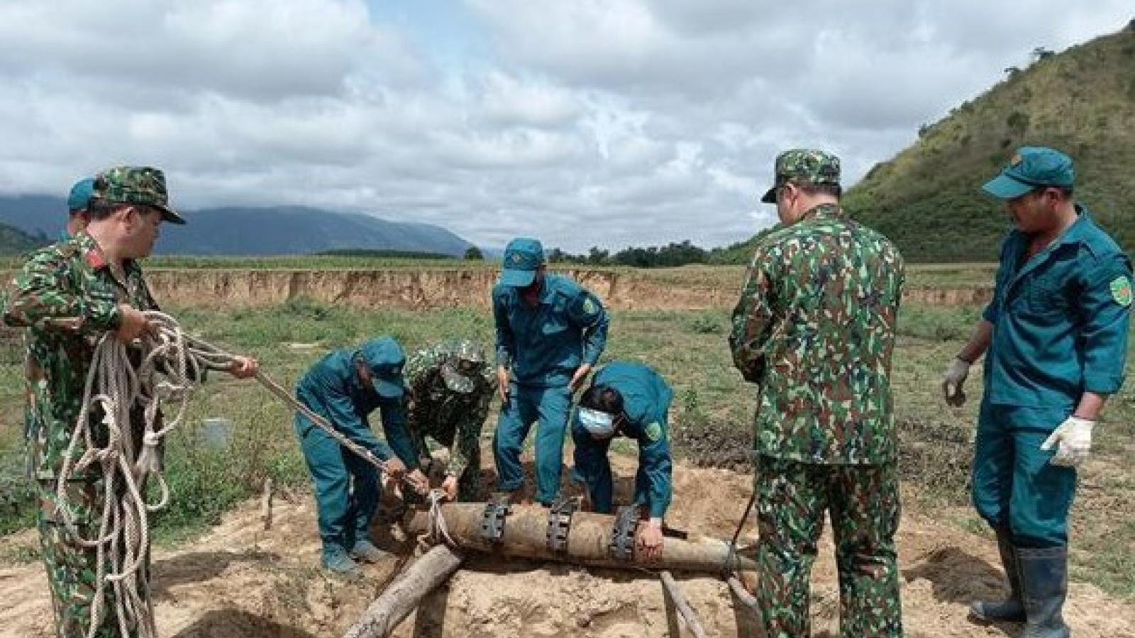Đắk Lắk hủy nổ thành công quả bom nặng gần 1,2 tạ