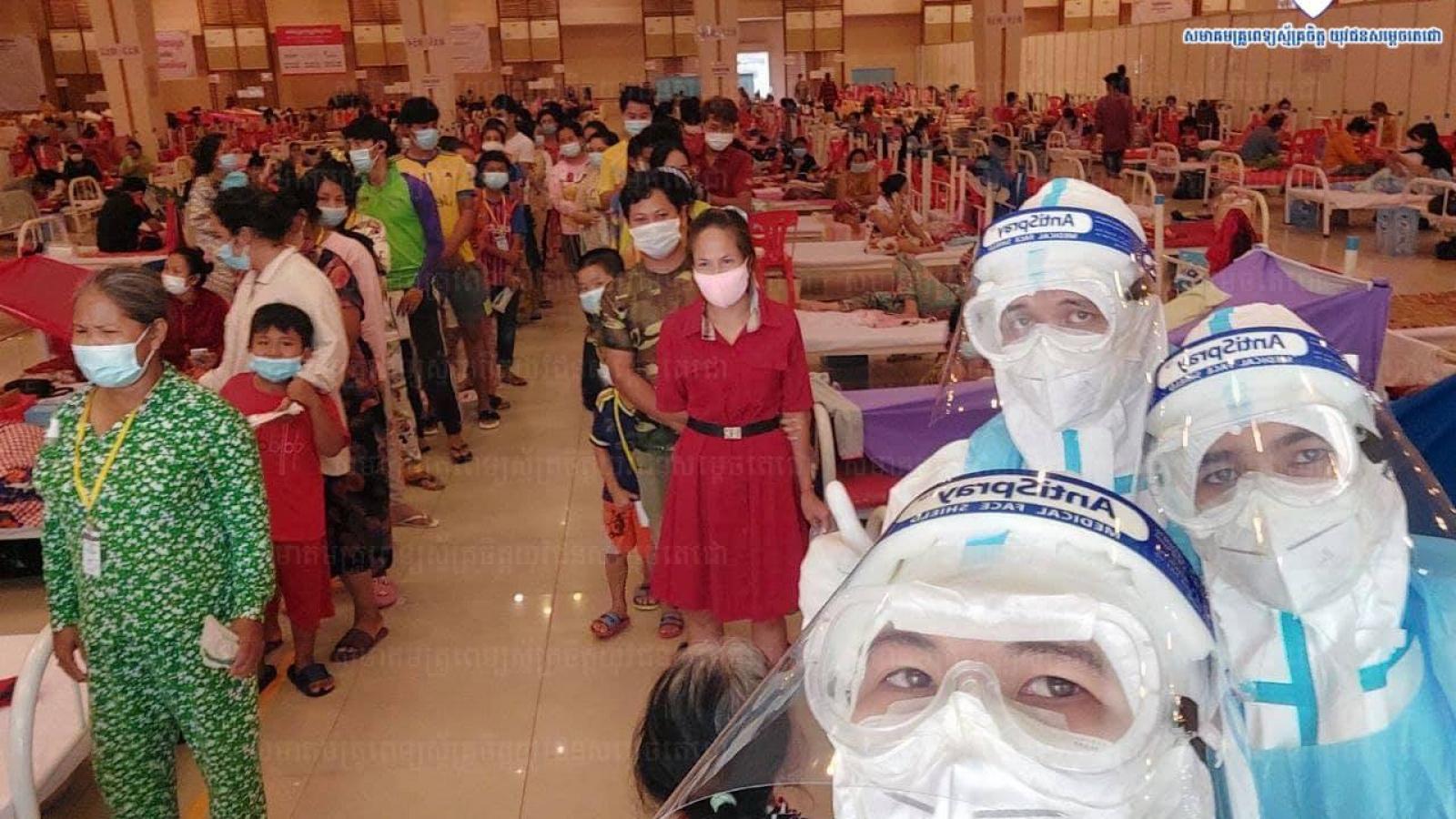 Campuchia ghi nhận 506 ca mắc Covid-19 mới và 6 ca tử vong trong 24 giờ