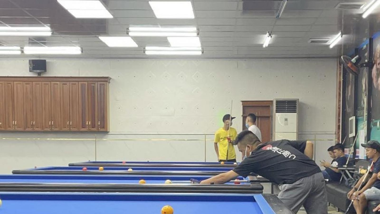 Xử lý chủ tiệm billiards vì vi phạm quy định phòng, chống dịch Covid–19