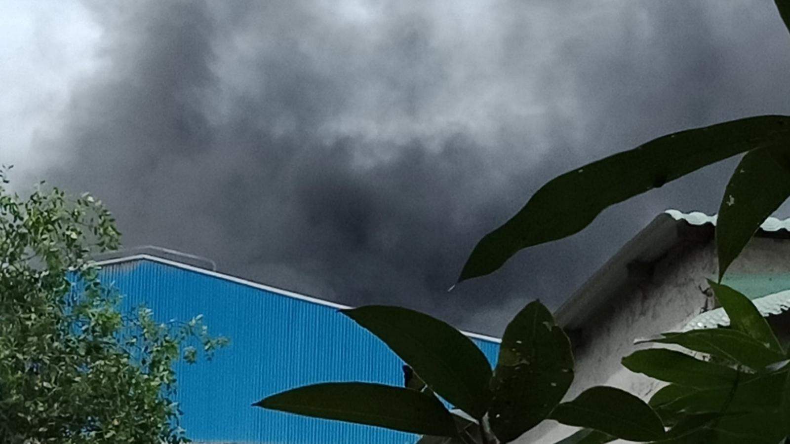 Cháy nhà máy lau bóng gạo ở Tiền Giang gây thiệt hại nặng
