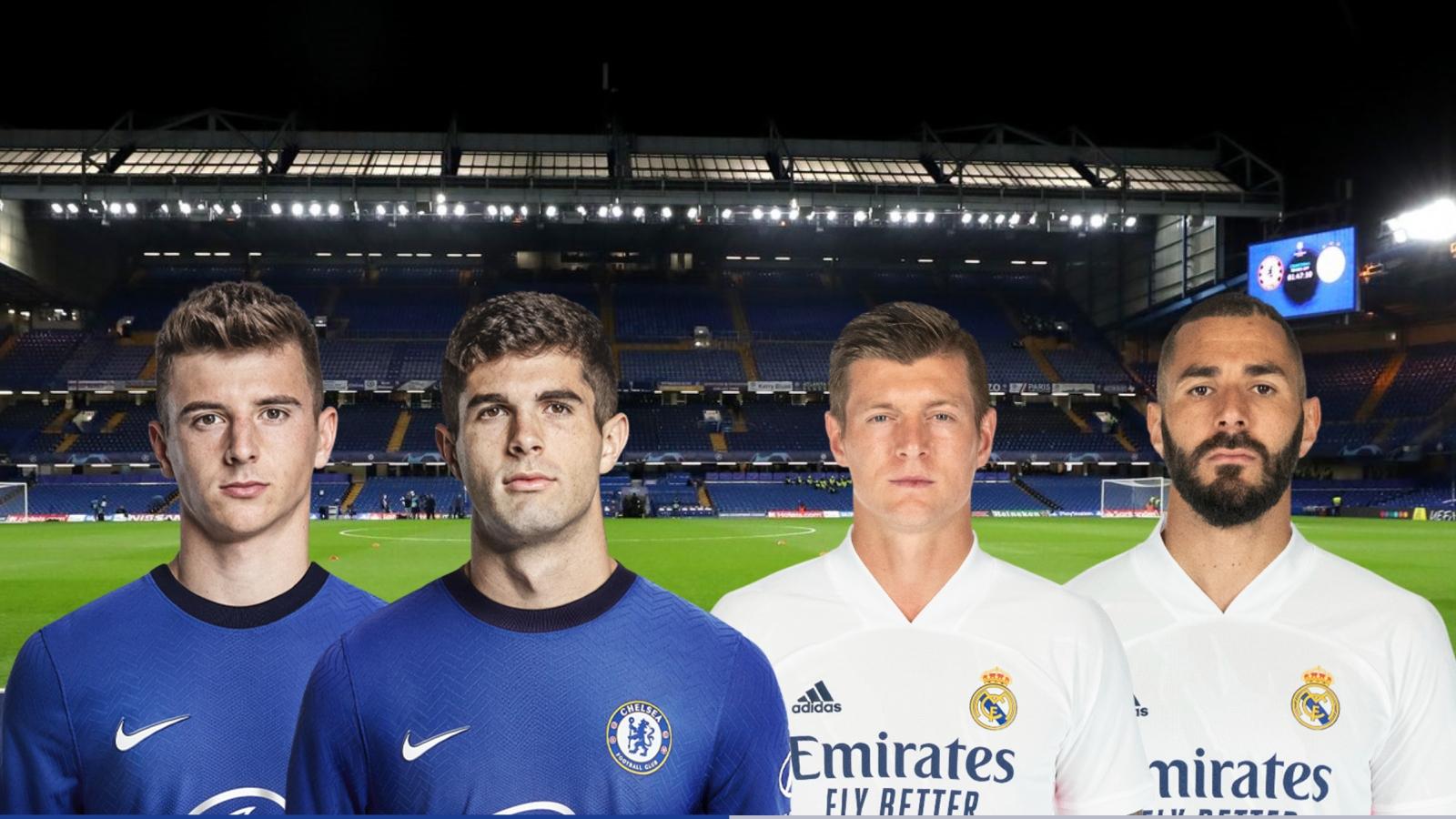 Dự đoán tỷ số, đội hình xuất phát trận Chelsea – Real Madrid