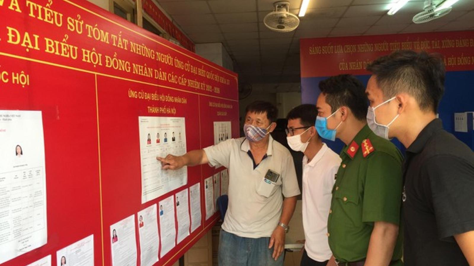 Hà Nội: Không để xảy ra phức tạp về an ninh trật tự trước, trong và sau ngày bầu cử