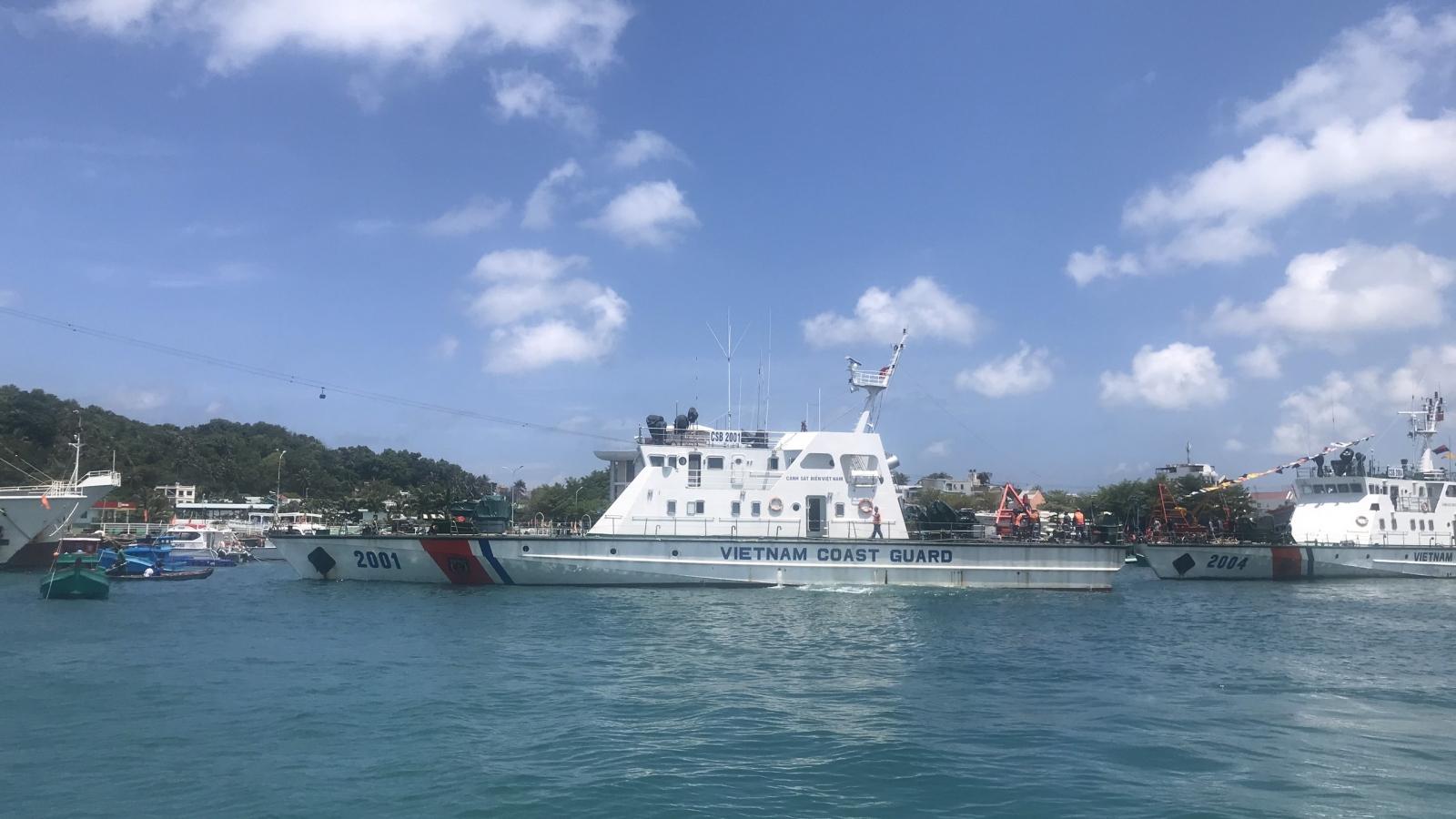 Cảnh sát biển chi viện siết chặt biên giới biển Tây Nam