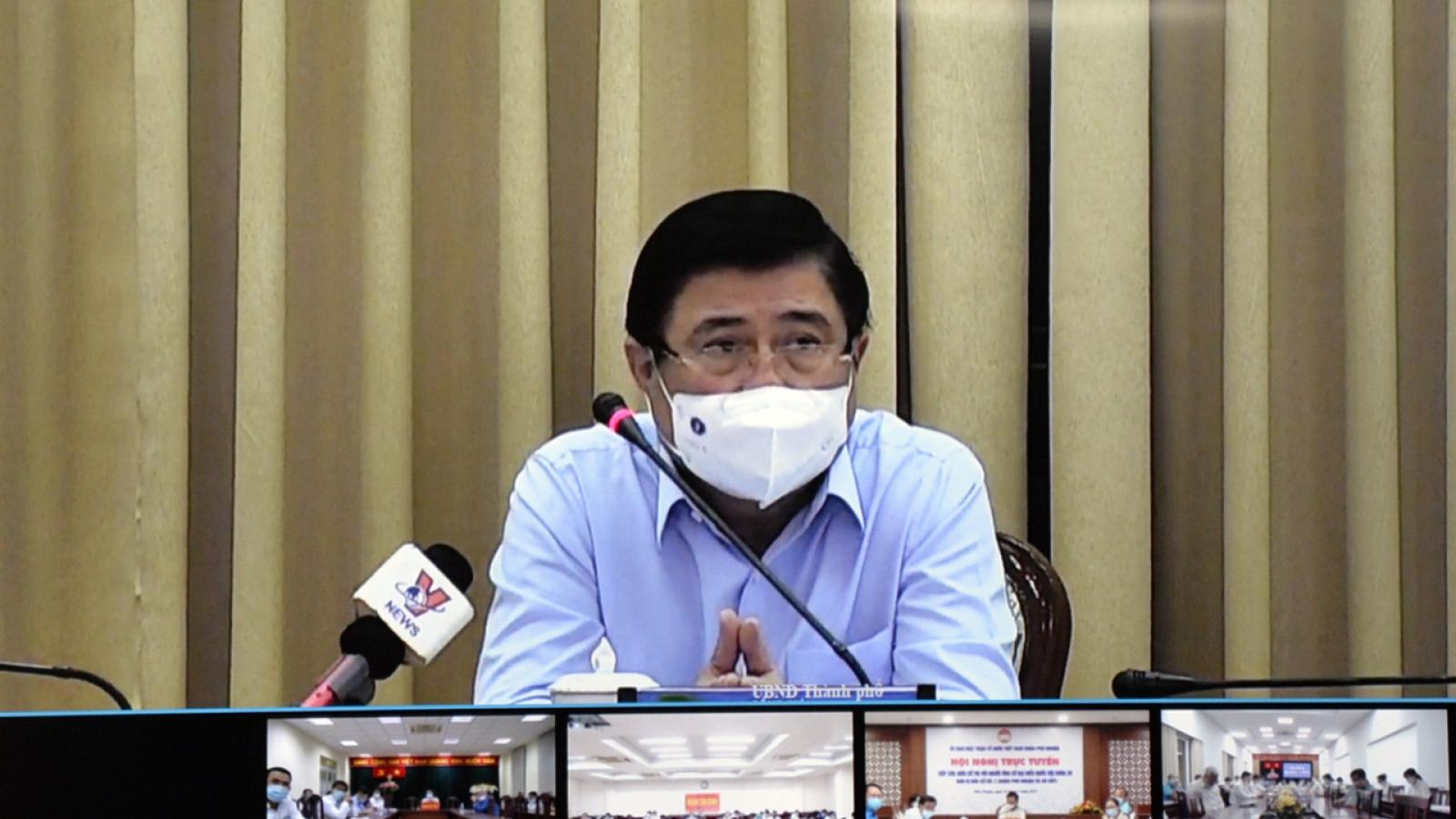 Chủ tịch TPHCM phê bình một số sở, ngành lơ là phòng, chống dịch COVID-19
