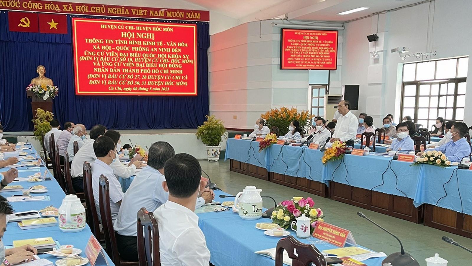 Chủ tịch nước dự hội nghị thông tin về KT-XHcho ứng cử viên Đại biểu Quốc hội