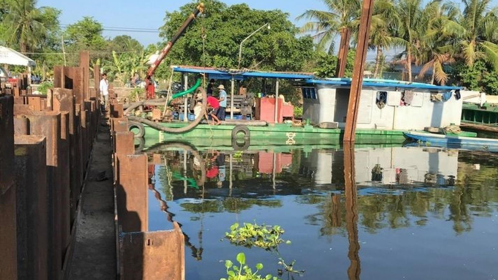 Tiền Giang tháo dỡ các đập ngăn mặn, đón nước ngọt vào nội đồng