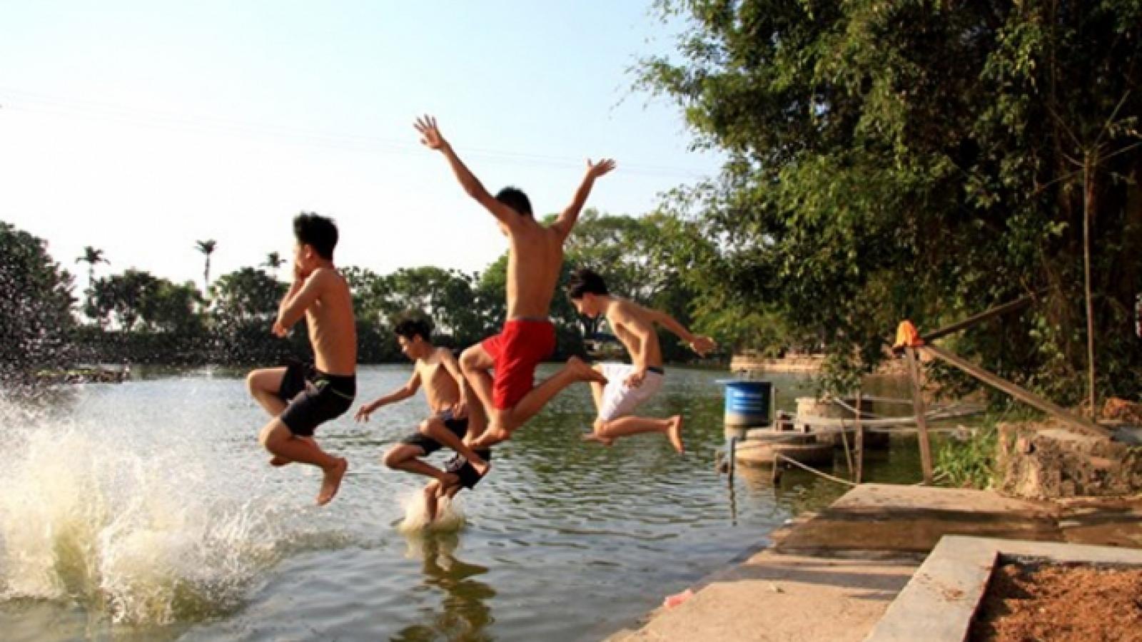2 anh em đuối nước tử vong thương tâm ở Điện Biên