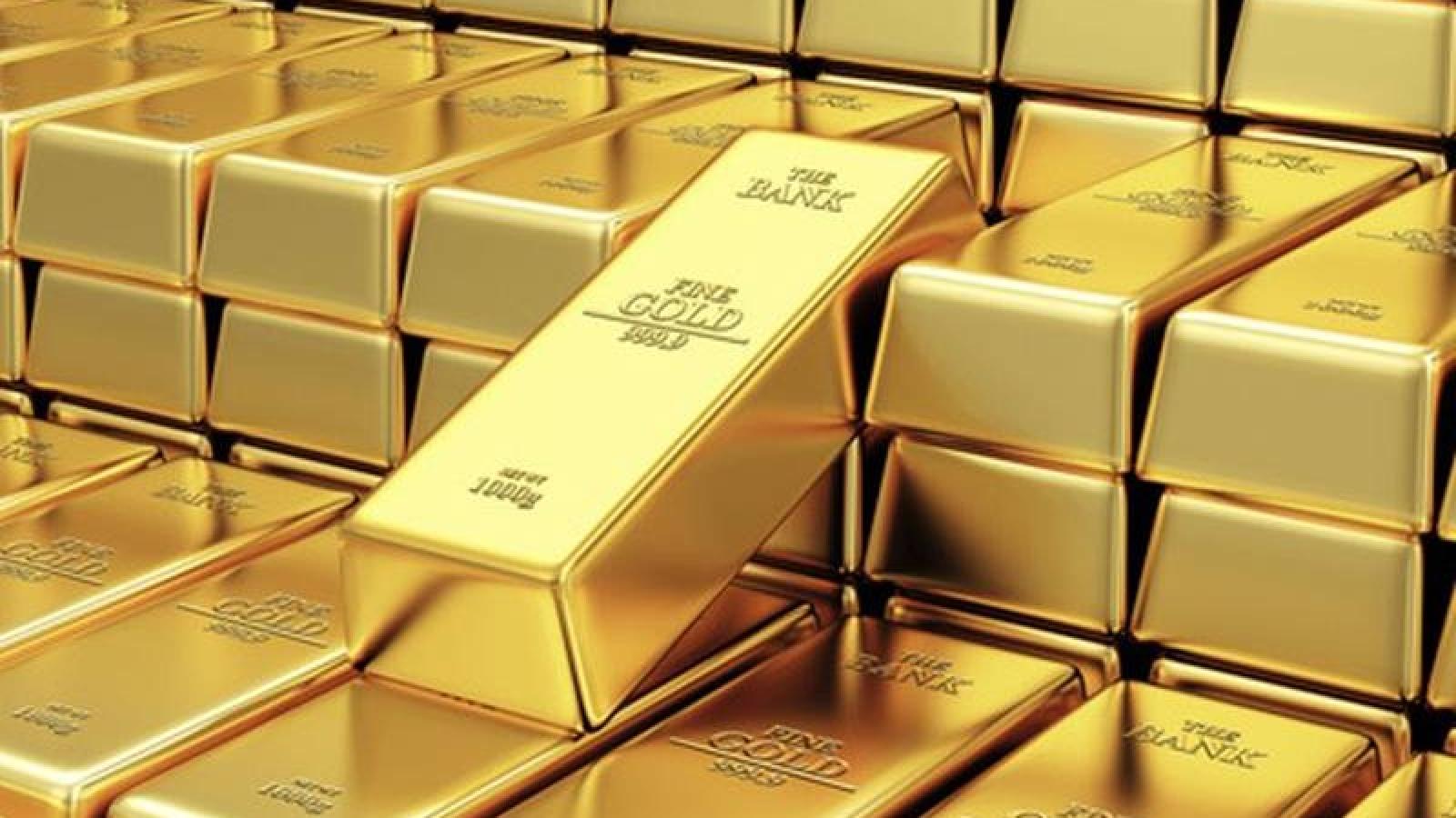 Giá vàng trong nước giảm, ngược chiều với vàng thế giới