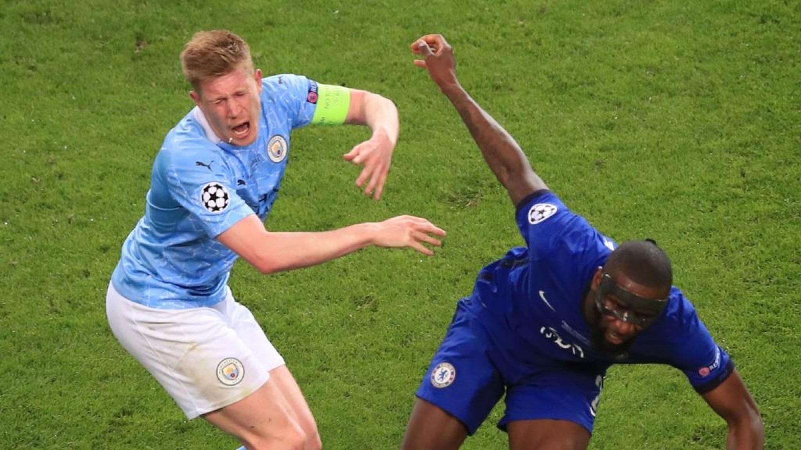 Rudiger xin lỗi vì khiến De Bruyne chấn thương nặng ở chung kết Champions League