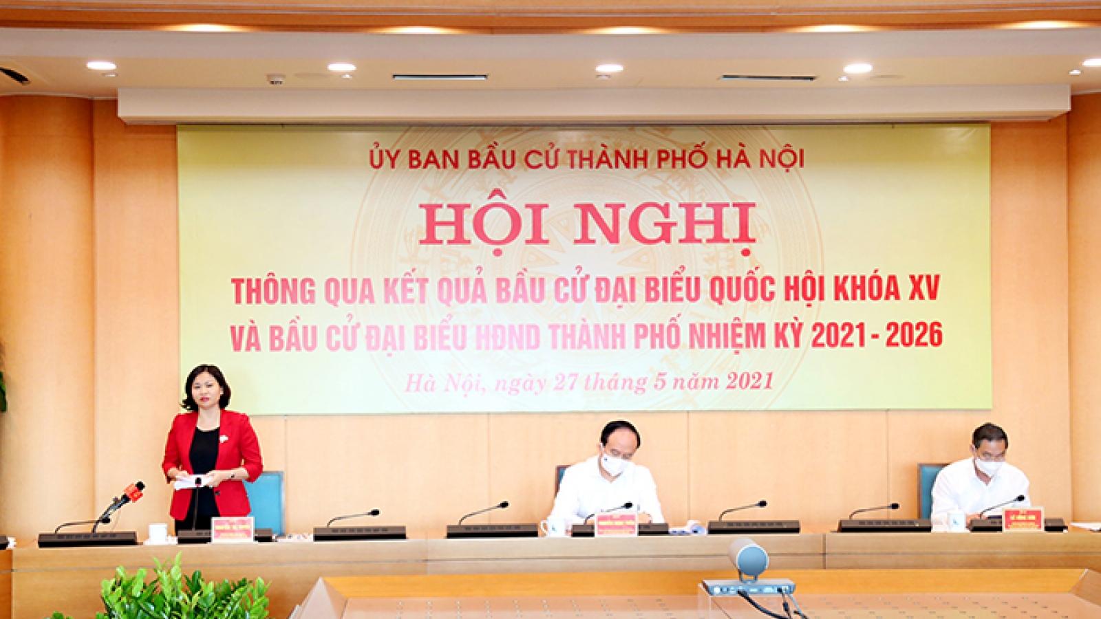 Hà Nội bầu đủ 95 đại biểu HĐND thành phố nhiệm kỳ 2021-2026