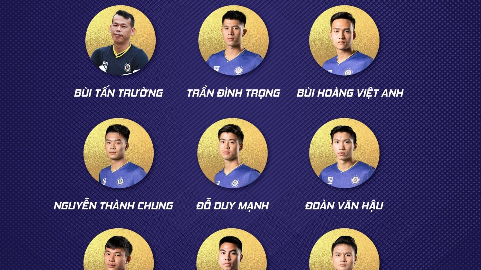 Hà Nội FC áp đảo ở danh sách ĐT Việt Nam, HAGL đứng thứ 2