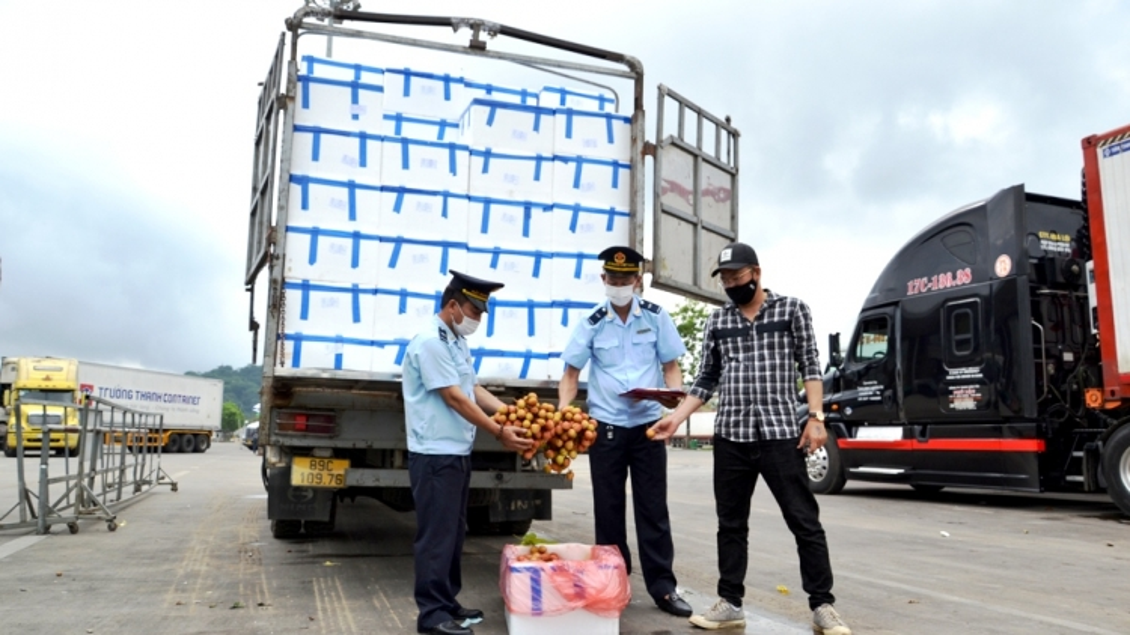 Lào Cai sáng tạo phương án đón vải thiều từ tâm dịch đi xuất khẩu