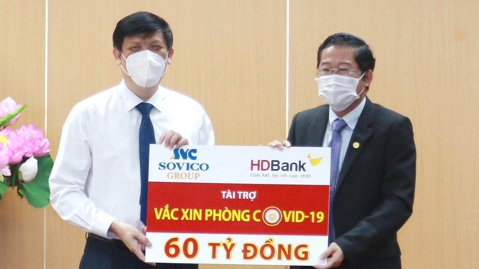 Sovico Group và HDBank ủng hộ chương trình vaccine phòng ngừa Covid-19