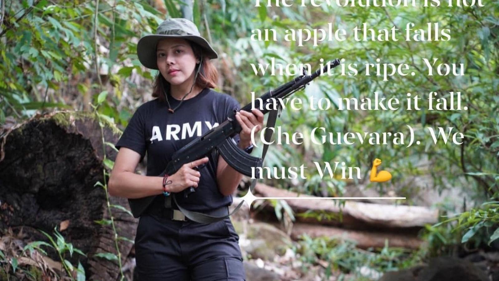 Cựu Hoa hậu Myanmar gia nhập phiến quân, cầm súng đối đầu với chính quyền quân sự