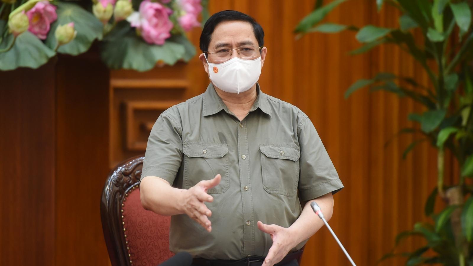 Thủ tướng Phạm Minh Chính nhắc nhở nghiêm khắc các địa phương chưa làm tốt phòng dịch