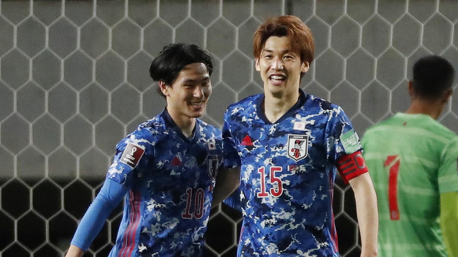 Nhật thắng Myanmar 10-0, vào vòng loại thứ ba World Cup 2022
