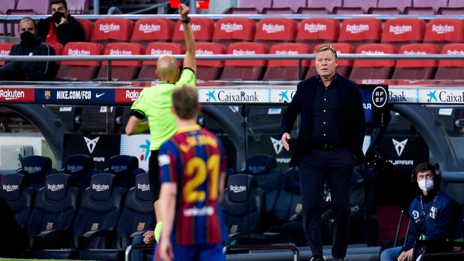 HLV Ronald Koeman bị cấm chỉ đạo 2 trận, Barca gấp rút kháng cáo