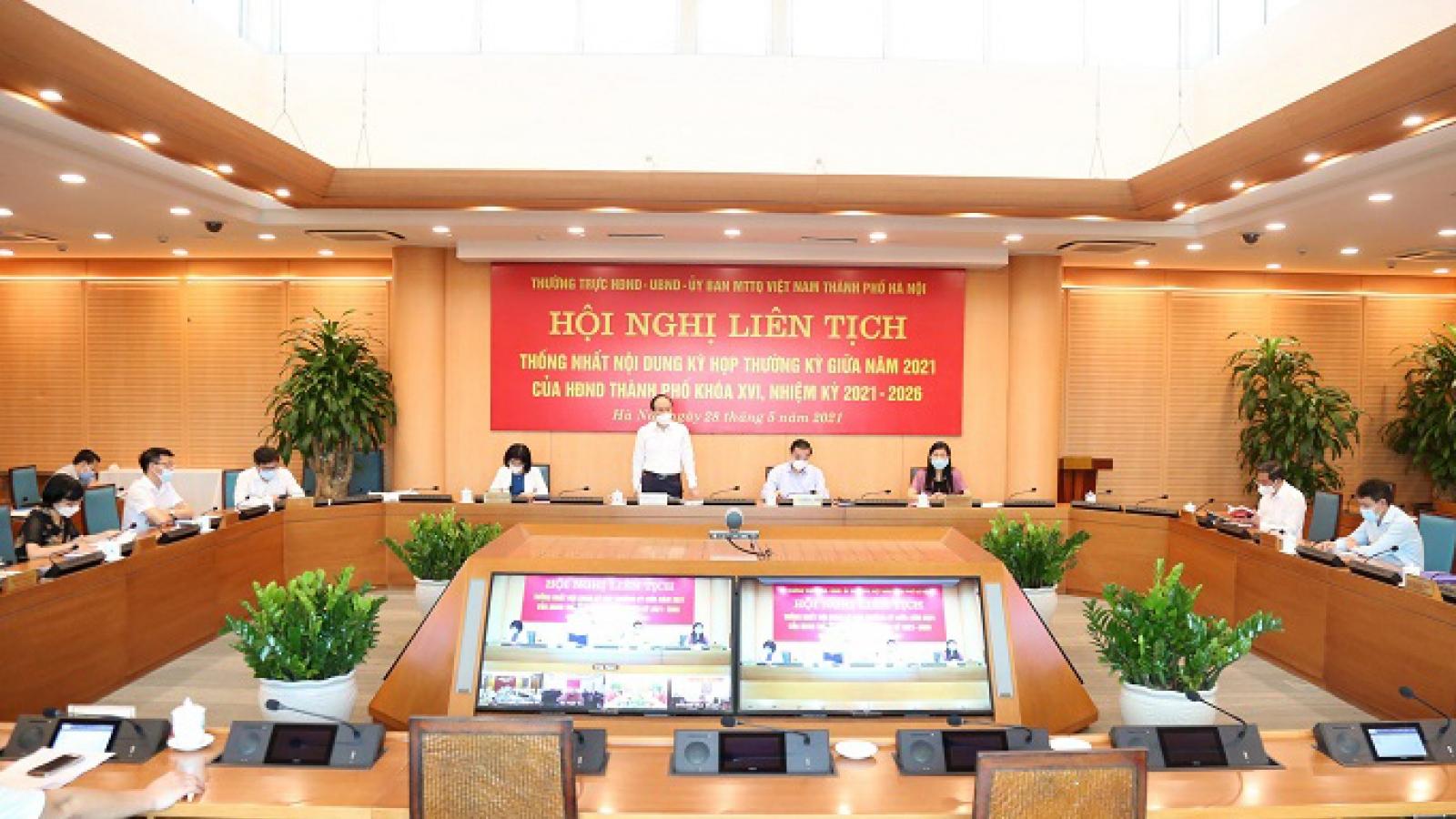 HĐND thành phố Hà Nội sẽ họp giữa kỳ vào tháng 7, xem xét 28 nội dung