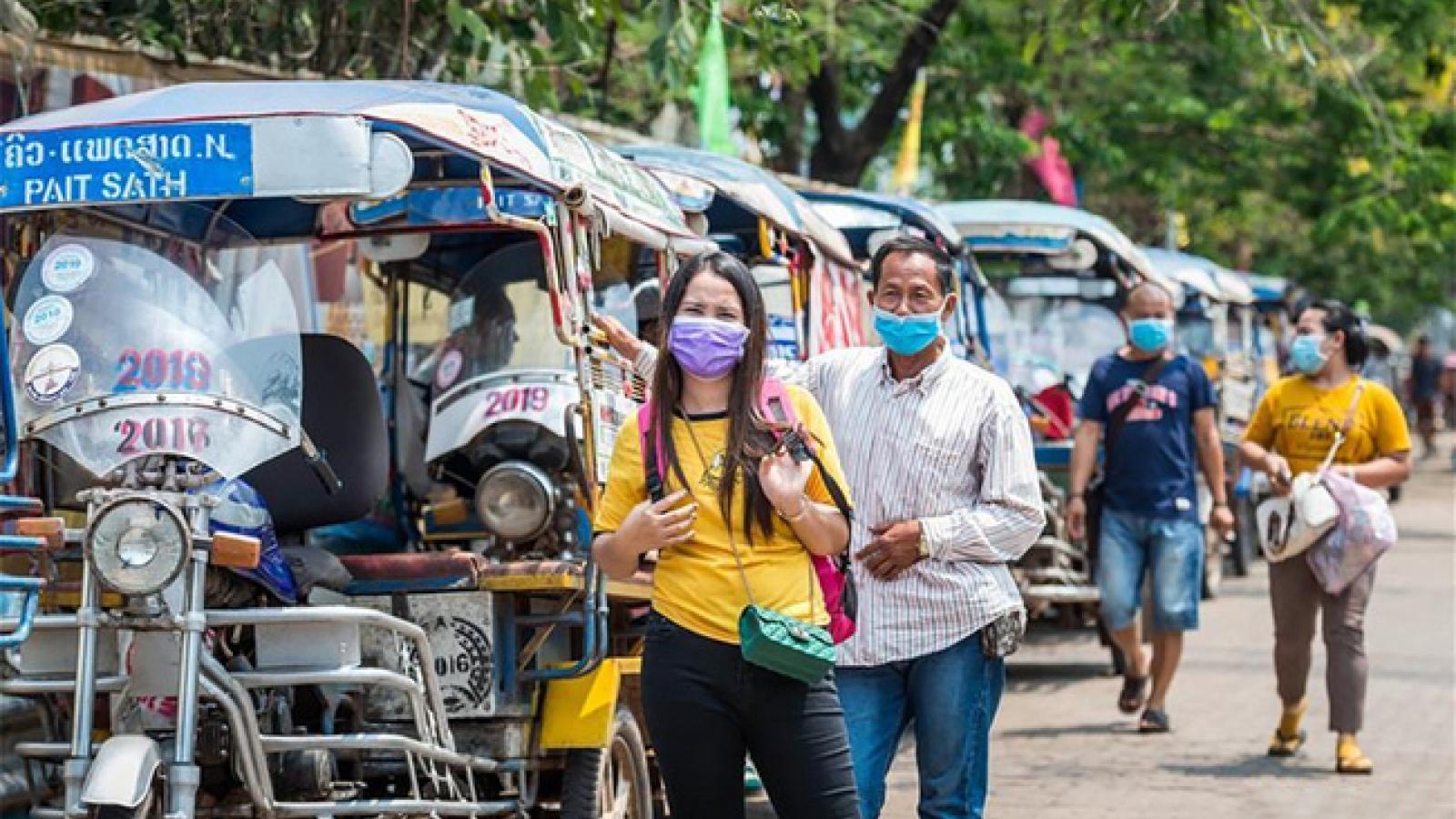 Số ca mắc mới Covid-19 tại Lào giảm xuống mức thấp nhất