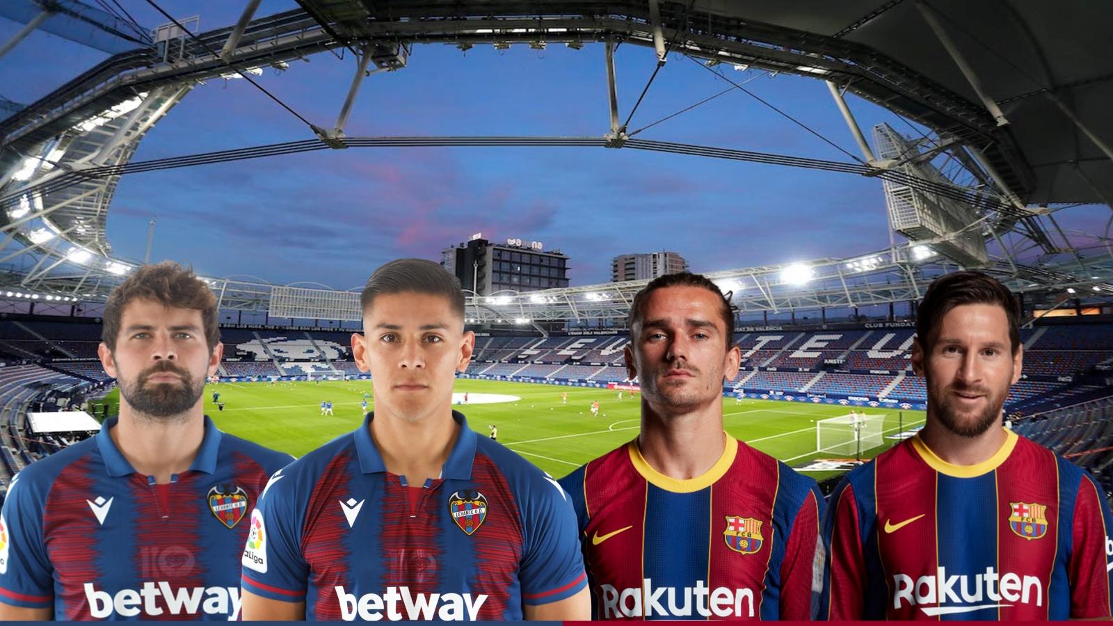 Dự đoán tỷ số, đội hình xuất phát trận Levante – Barca