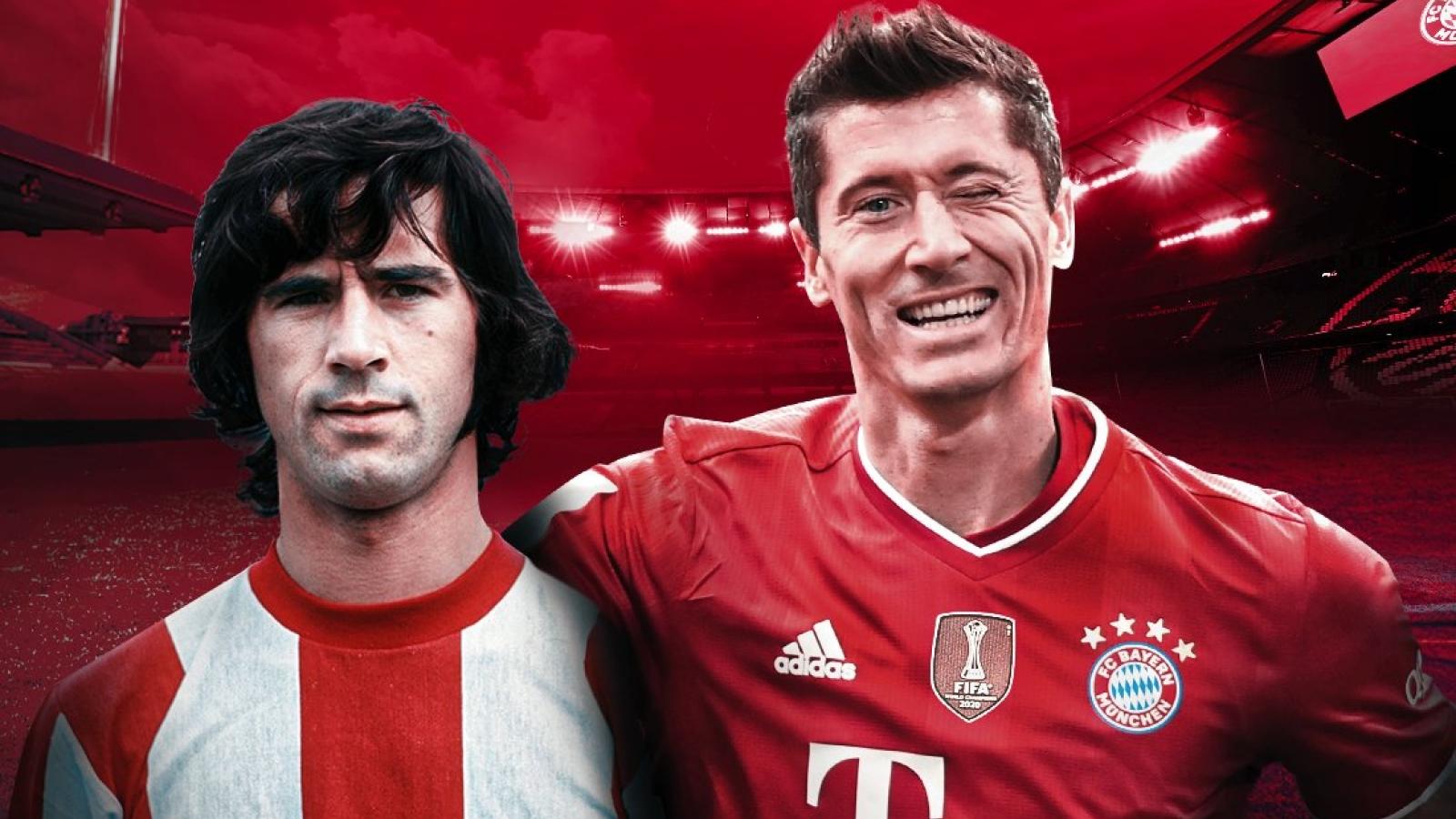 Lewandowski cân bằng kỷ lục siêu khủng của Gerd Mueller