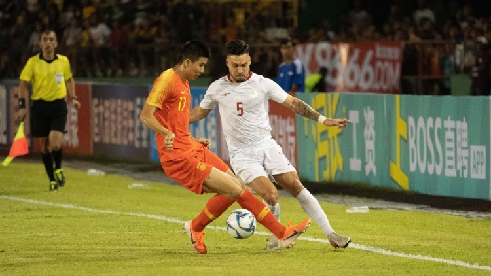 ĐT Philippines quyết thắng Trung Quốc để vào vòng loại thứ 3 World Cup 2022