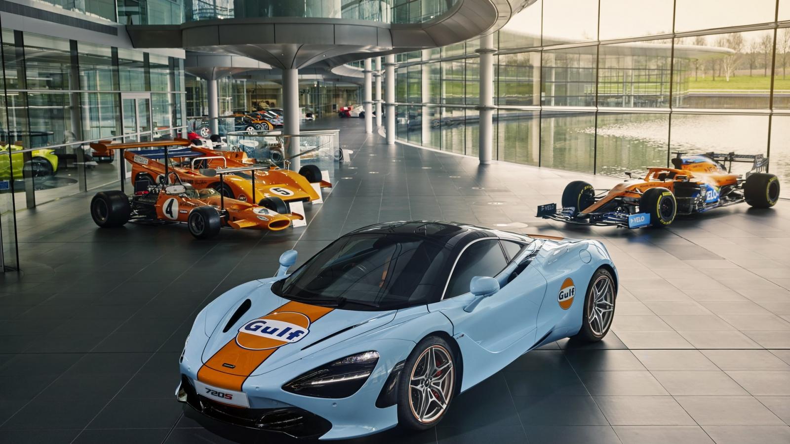 McLaren 720S xuất hiện với màu áo Gulf độc đáo