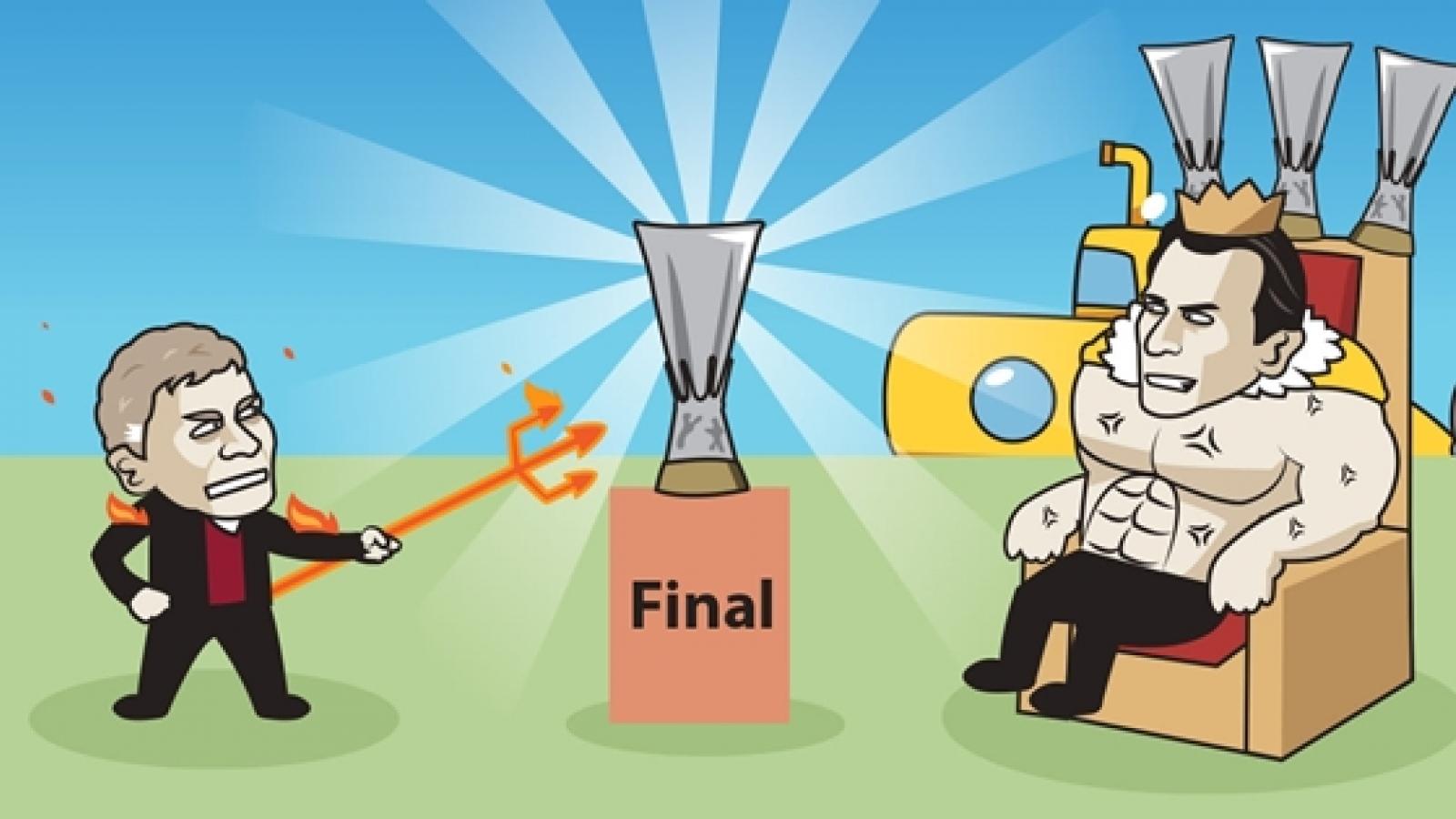 Biếm họa 24h: MU gặp kỳ phùng địch thủ ở chung kết Europa League