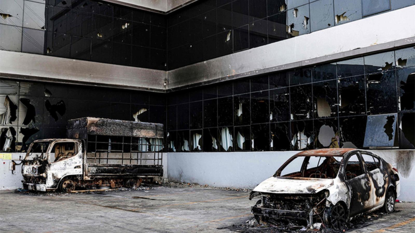 Myanmarkết án 20 nămtù các đối tượng phóng hỏa nhà máy TrungQuốc