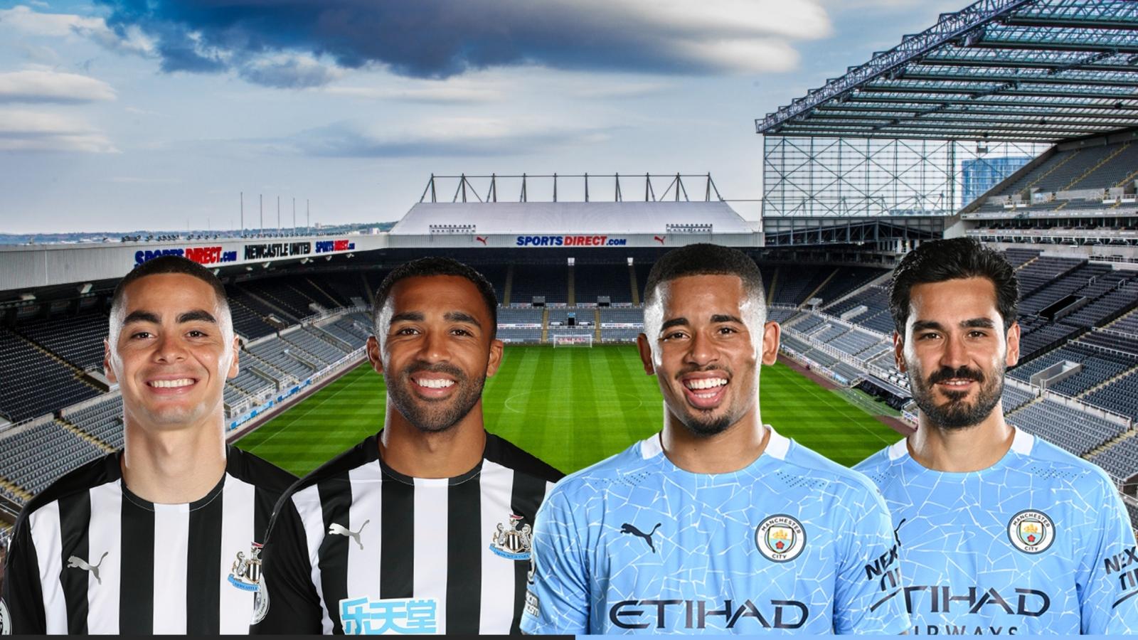 Dự đoán tỷ số, đội hình xuất phát trận Newcastle - Man City