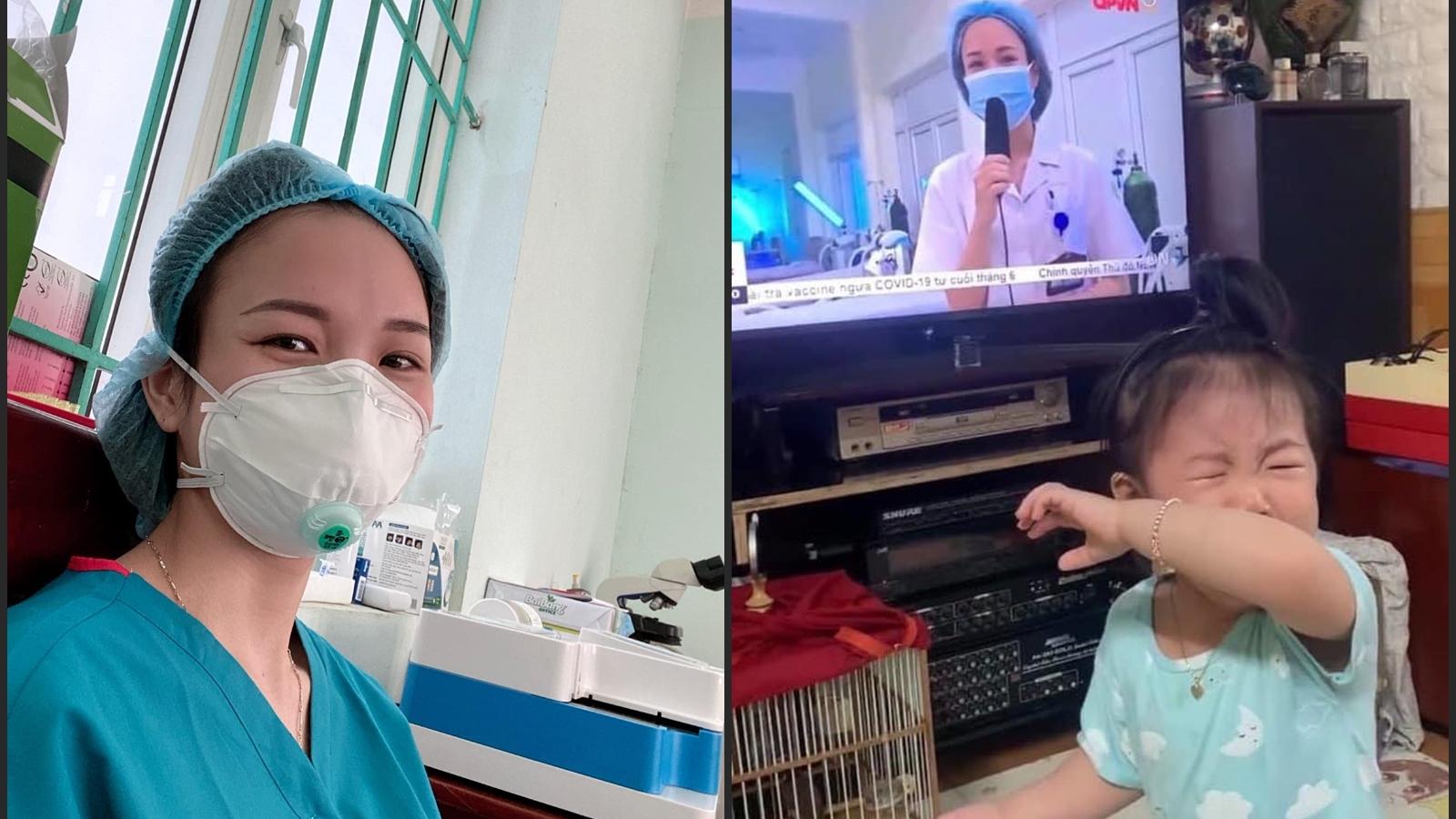 """Nữ điều dưỡng lên tivi khiến con gái khóc ngặt đòi bế: """"Nhớ con là ngực lại đau nhói"""""""