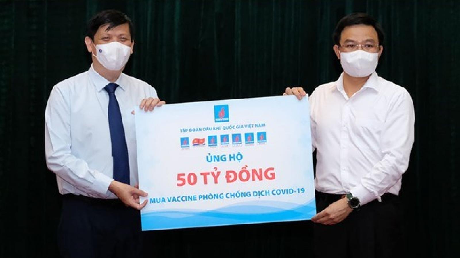 COVID-19 vaccine fund raises VND185 billion